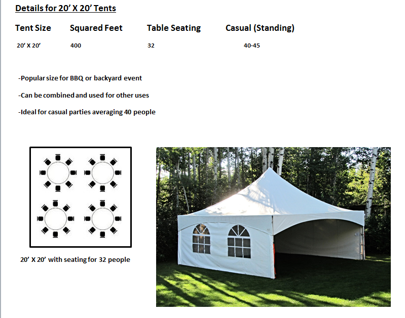 sc 1 st  In the Zone Party Rentals & Tent Rental Information - In the Zone Party Rentals
